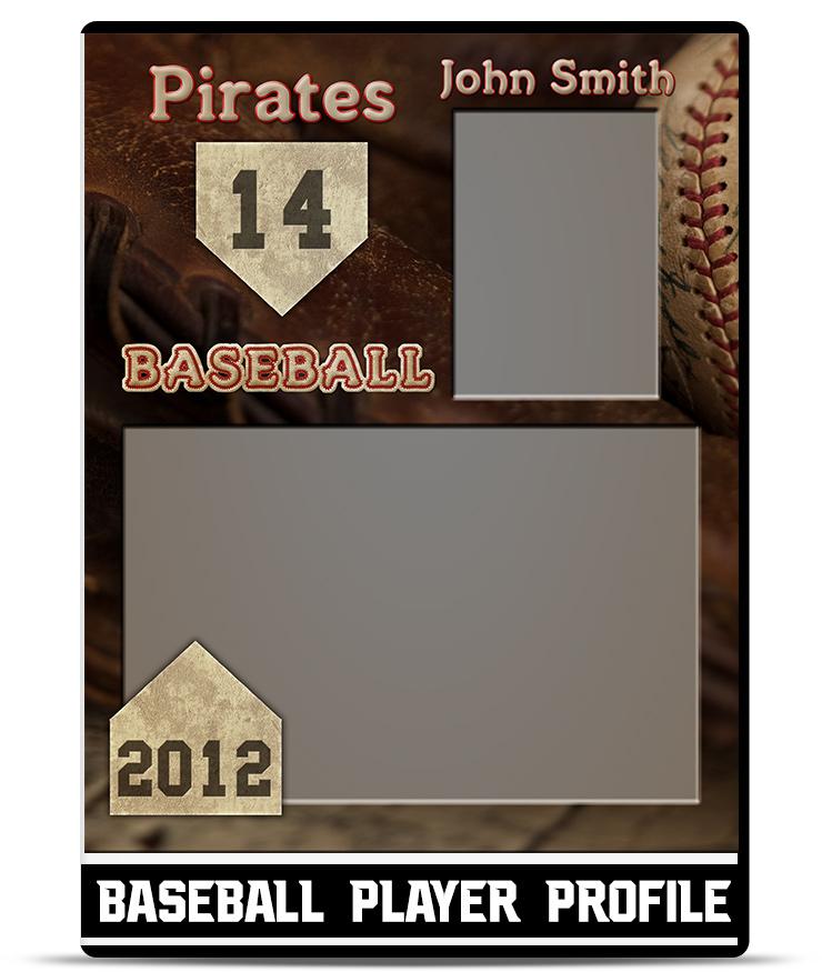 Player Profile Template | Baseball Player Profile Template Teamtemplates