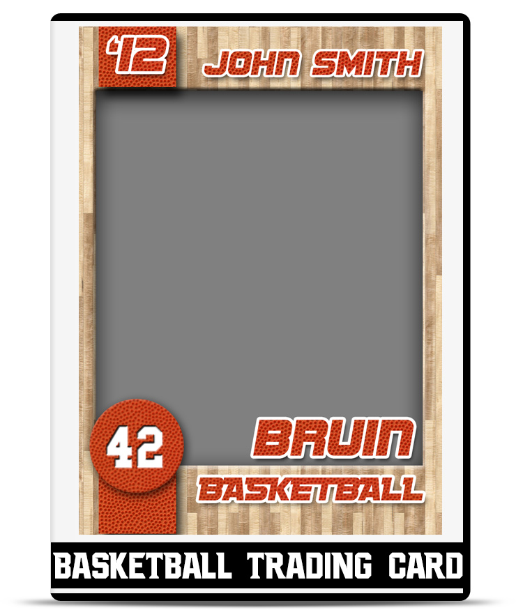 Basketball – Trading Card Template | Teamtemplates