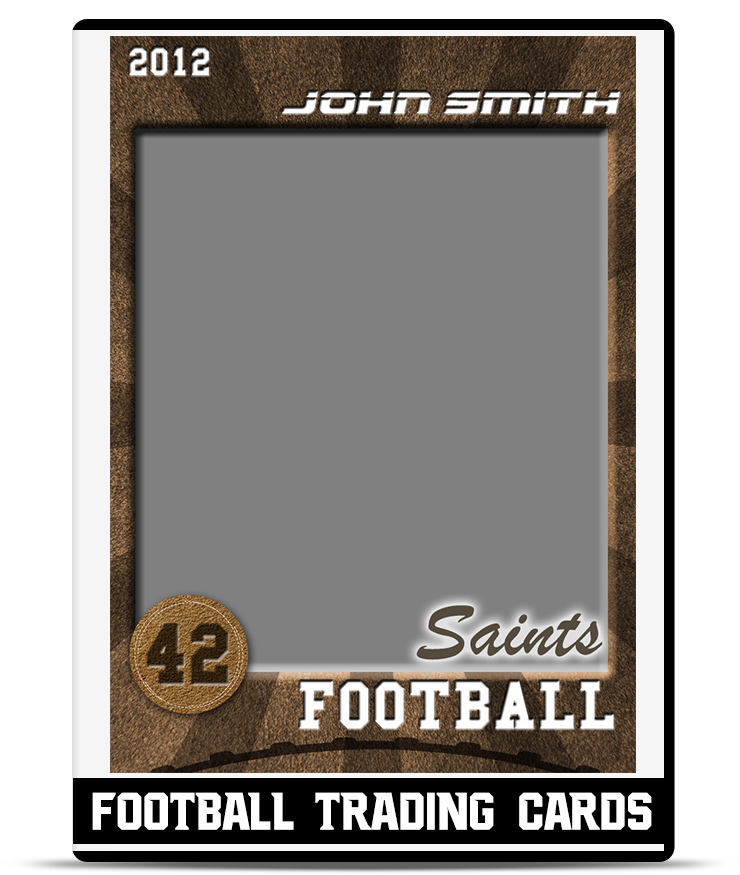 football trading card template teamtemplates. Black Bedroom Furniture Sets. Home Design Ideas